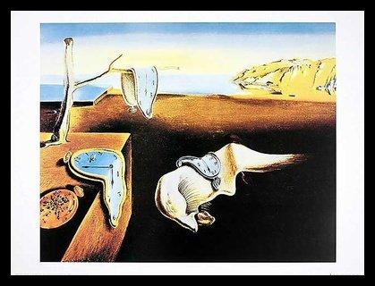 or Dali The Persistence of Memory Poster Kunstdruck Bild im Alu Rahmen in schwarz 40x50cm ()