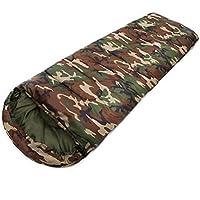 SODIAL(R) Sac de couchage en coton de haute qualite, 15 Degres Celsius ~ 5 Degres Celsius, style enveloppe, armee ou sacs de couchage militaires ou de camouflage