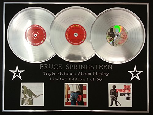 BRUCE SPRINGSTEEN/Dreifach-Platin Album anzeigen/Limitierte Edition/COA/BORN TO RUN + BORN IN THE USA + GREATEST HITS - Usa Anzeigen