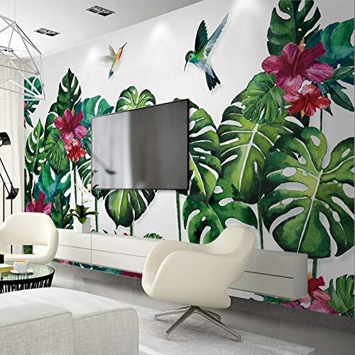 Photo Wallpaper 3D Dipinto a Mano Sud-EST Asiatico Foresta pluviale Tropicale Verde Foglia di Banana Murale Living Room Decor Painting-200x140cm