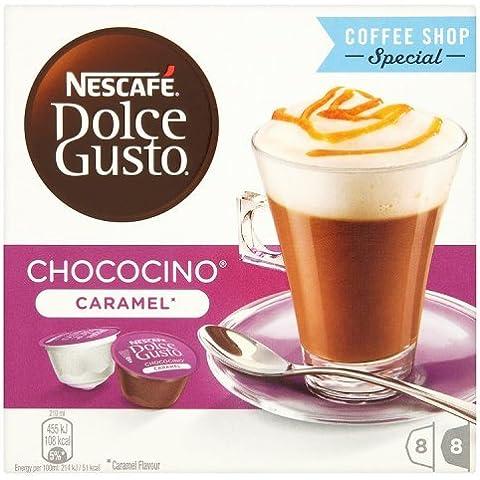 NESCAFÉ DOLCE GUSTO CHOCOCINO CARAMEL cioccolata al caramello 16 capsule (8 tazze)