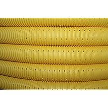 Setaflex 50m Drainagerohr /Ø50mm gelb gelocht und 50m Filterschlauch F50 Profi-Set