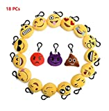 flintronic Mini Gesicht Plüsch Spielzeug Schlüsselanhänger Anhänger,Schlüsselanhänger Emoticon, Set von 18