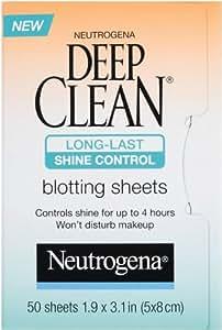 Neutrogena Deep Clean Shine Control Blotting Sheets, 50 Count