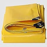 Planen ZHANGRONG- Dickes Wasserdichtes Tuch Wasserdichte Sonnenschutzplane Segeltuch Linoleum LKW-Leinwand 600g \ ㎡ (Dicke: 0.6MM) (Farbe : Gelb, größe : 3X 5m)