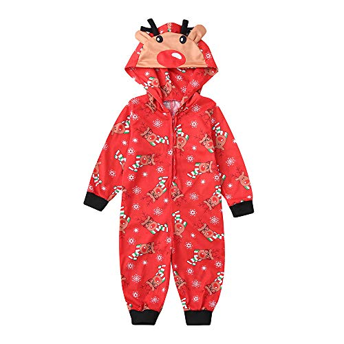 Riou Weihnachten Set Baby Kleidung Hooded Pullover Pyjama Outfits Set Familie Frohe Weihnachts...