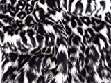 CRS Fur Fabrics Diversión Animal Piel sintética Material de la Tela-Snow Leopard