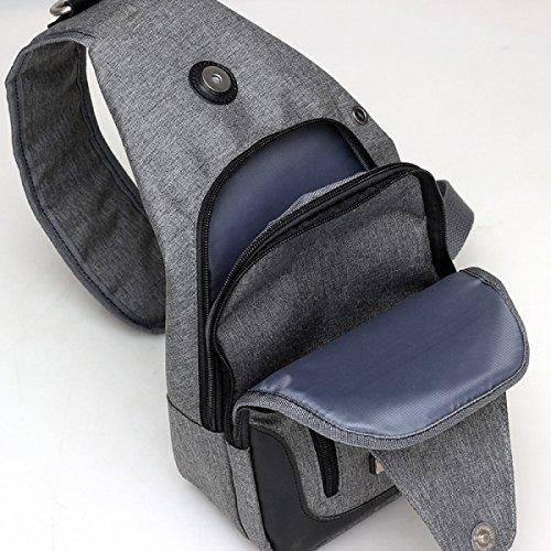 BULAGE Paket Charme Brustbeutel Männer Freizeit Mode Tasche Leinwand Handtaschen Urban Laden über USB Bequem Und Praktisch Bequem Grey
