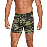 Under Armour Charged Cotton 6In 3 Pack Novelty Ropa Interior, Hombre, Verde (Barley Black 233), L