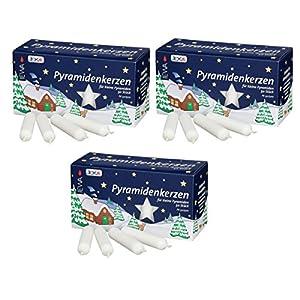 Pyramidenkerzen klein, weiß ca. 14 x 74 mm / 150 Stück Weihnachtskerzen, Adventskerzen, Christbaumkerzen, Baumkerzen, Kerzen