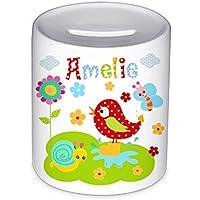 Spardose, mit Namen, Vogel, für Kinder, Geschenk, Kinderspardose, Geschenk Geburt, Taufe, Sparschwein, Geldgeschenke,