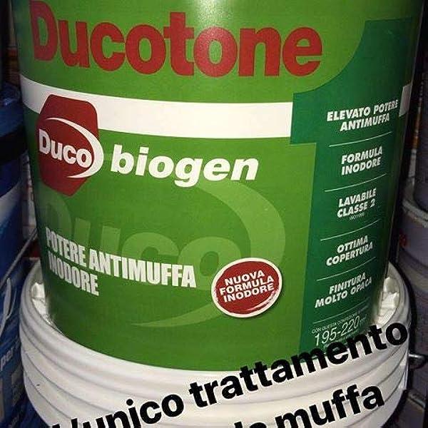 Pittura Murale Idropittura Antimuffa Antialga Ducotone Biogen Lt 13 Amazon It Fai Da Te