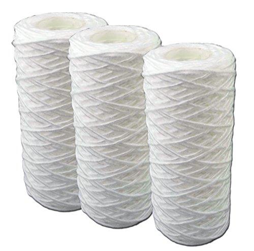 """5 Zoll Faser Filterpatrone (12,7cm) für 5\"""" Filtergehäuse. Filterkartusche für Pumpen-, Hauswasserwerke- Teich- Vorfilter, Wasserfilter, Sandfilter. Hochdruckreiniger. (3)"""