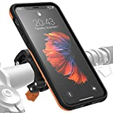 Morpheus Labs M4s BikeKit Support telephone velo iPhone velo, Support iPhone XS Max velo, Support vélo pour Apple iPhone XS Max incl. coque iPhone XS Max fixation solide du portable au guidon [Orange]