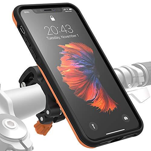 Morpheus M4s Bike Kit für iPhone XS Max, Fahrrad- Halterung & Hülle, Carbon-Fiber Mount & iPhone-Case (XS Max orange)
