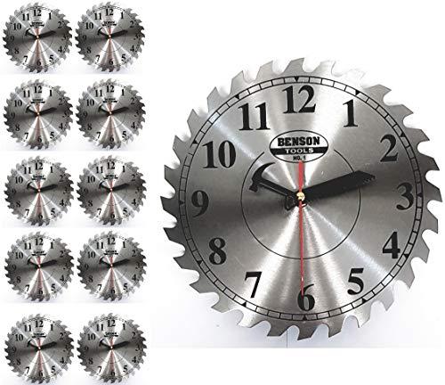 Wanduhr Kreissäge Quarzuhr Sägeblatt Uhr Werkstattuhr Büro