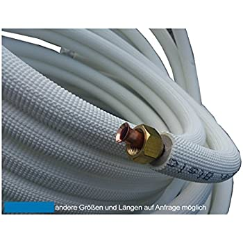 Verbindungsnippel B/ördelmutter Messing 3//8 Zoll Set f/ür geb/ördelte Kupferleitung K/ältemittelleitung