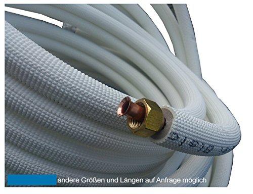 3m Kupferleitung 1/4 + 3/8 Zoll doppel Kältemittelleitung gebördelt -