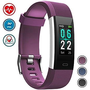 Pulsera de Actividad Inteligentepant Reloj Deportivo Monitor de Ritmo Cardíaco IP68 Impermeable,Pulsometro Podometro con