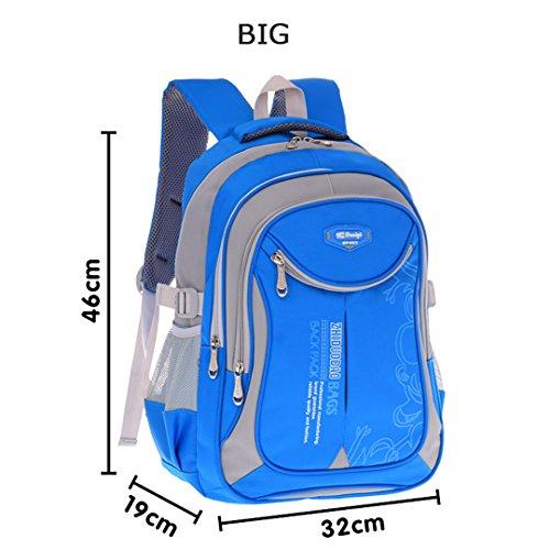 Kinder Schultaschen Für Jugendliche Jungen Mädchen Große Kapazität Schulrucksack Wasserdichte Satchel Kinder Buch Tasche BLUE B