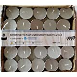 Goodsville Plain Unscented Pack Of 50 Tealight Candle(Burn Time2.5-3 Hours) (White)