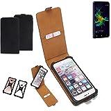 K-S-Trade Flipstyle Case für Allview P8 Energy Mini Schutzhülle Handy Schutz Hülle Tasche Handytasche Handyhülle + integrierter Bumper Kameraschutz, schwarz (1x)