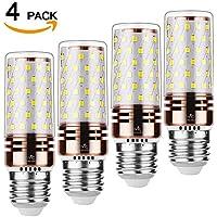 Mvic Lampadine LED, E27 Base,16W LED Bulbi di mais a Risparmio Energetico,1350LM, 4500K Bianca Calda Lampadine a candela - Pacco da 6 (4Pack E27 16W)