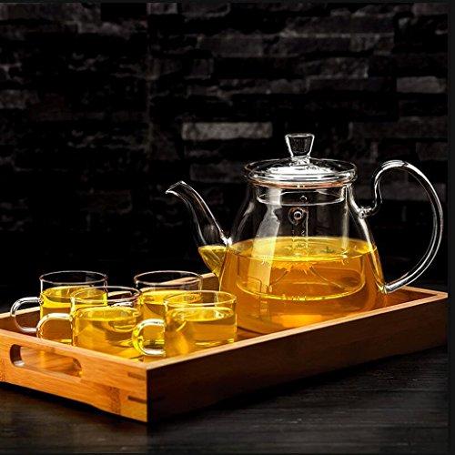 Teekannen Tee Set Brew Tee Wasserkocher Haushaltsfilter Liner Tee-Set Tee-Set 750 ml 2 4 Tassen + Tee Tablett GAODUZI (UnitCount : B) - Brew-wasserkocher-set