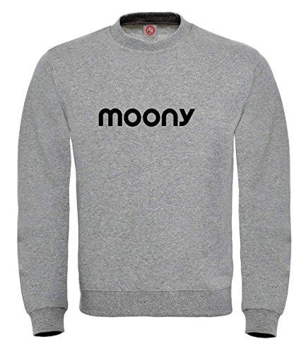 Felpa Moony - Print Your Name Gray