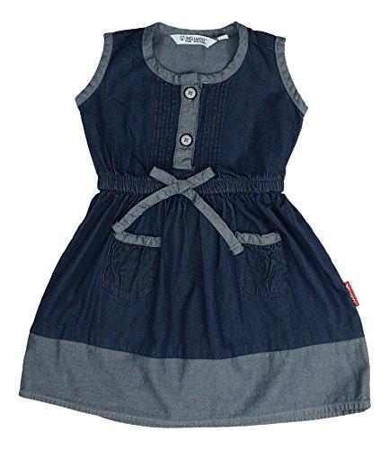 BELLUCCI DENIM Baby Girls' A-Line Dress (TBG002AZGB12, Blue, 1-2 Years)