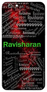 Ravisharan (Surrender) Name & Sign Printed All over customize & Personalized!! Protective back cover for your Smart Phone : Xiaomi Redmi Note