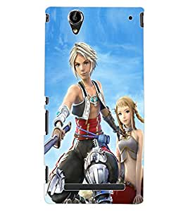 ColourCraft Warrior Girl Design Back Case Cover for SONY XPERIA T2 ULTRA
