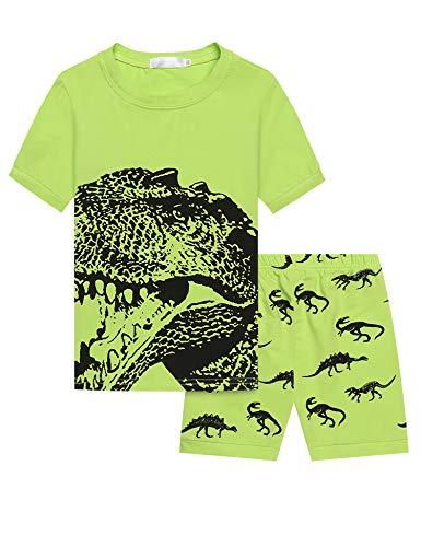 Bricnat Jungen Dinosaurier Schlafanzug Slim Fit Mehrfarbig