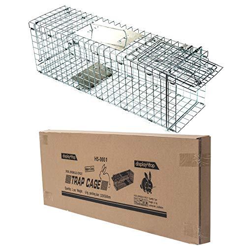 D4P Display4top Animal Trap Cage Trampa de Captura de Animales Vivos, Gatos, Perros, Conejos, roedores (61 x 18 x 21cm)