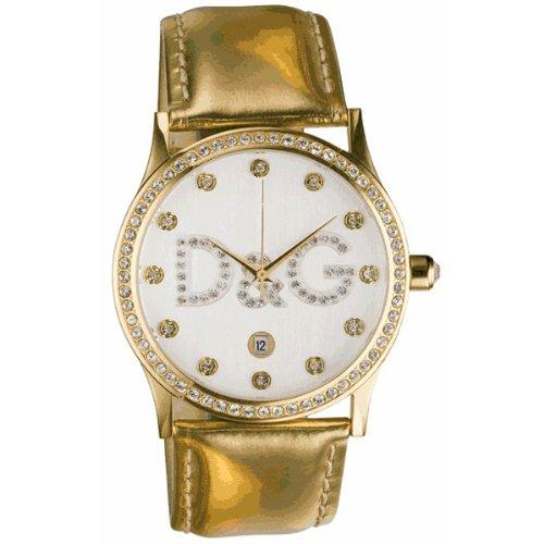D&G Dolce&Gabbana D&G Gloria - Reloj analógico de mujer de cuarzo con correa de piel dorada