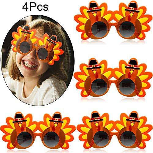 Die Meisten Kreativen Paar Kostüm - 4 Paar Kreative Truthahn Brillen Thanksgiving
