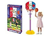 Enlarge toy image: Junior Basketball Hoop Kids Basketball Stand with Net and Ball Outdoor IndoorAdjustable Sport Game Play Set for 3 Years Old and up Toddler Baby Sports Outdoor IndoorAdjustable Sport Fun Toys Activities