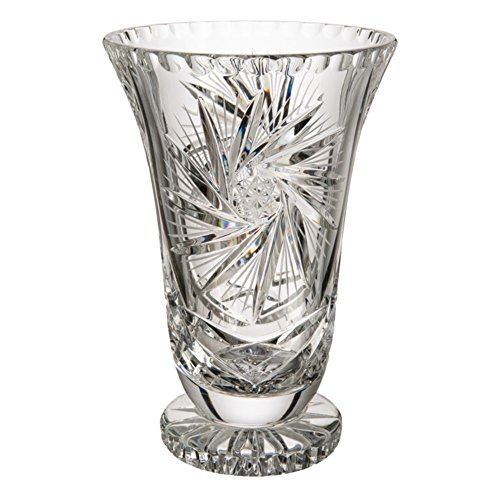 Cristal de Bohemia Böhmischen Glas Stern Vase, Glas, 13x 13x 22cm