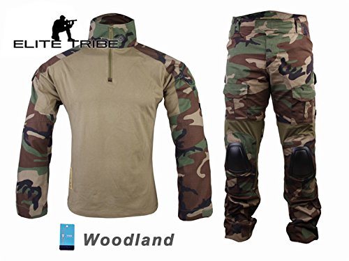 eLITe Airsoft Jagd Tactical BDU passt Military Combat G2 Uniform Shirt Hose Woodland Military Combat Hose