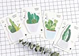 Set di 4carino cactus Kawaii memo Pad Paper Sticky notes self-stick station Ery