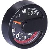 Thermomètre, rondes, autocollantes noir