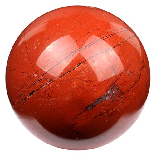 Natural Authentic Red Jasper 50mm Polished Crystal Sphere Ball Metaphysical Healing Mineral Feng Shui Chakra Aura Balance Stone SPH058 by TGS Gems