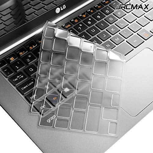 JRCMAX Tastaturschutz für LG Modell 14Z980 38,1 cm (15 Zoll), ultradünn, wasserdicht, staubdicht, transparent 4 Servietten Basic