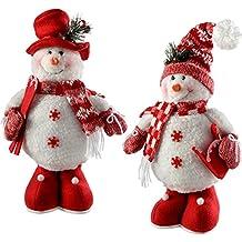 WeRChristmas – Figura Decorativa de pie decoración de Navidad muñecos de Nieve, 33 cm,