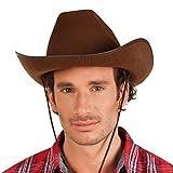 Boland 04097 - Erwachsenenhut Cowboy, Einheitsgröße, braun