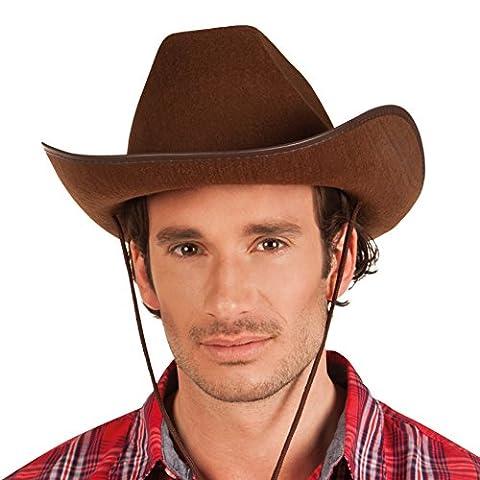 Boland 04097 - Erwachsenenhut Cowboy, Einheitsgröߟe, braun