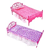 Toy - Bluelans� 1 x Beautiful Plastic Bedroom Furniture Bed Set for Barbie Dolls Dollhouse (Random Color)
