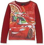 Disney Pixar Cars Jungen Langarmshirt, Rot,8 Jahre (Herstellergröße: 128 cm)