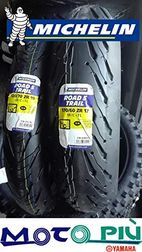 COPPIA GOMME MICHELIN ROAD 5 TRAIL 2CT 120/70-19 60W 170/60-17 72W DOT 2018-2019