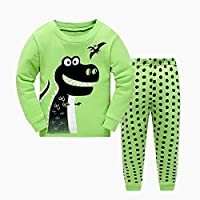 Masonanic Toddler/Kids Boys And Girls Cute Dinosaur Pajama Set 100% Cotton 2-7 Years (2T)
